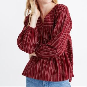 NEW Madewell peasant top size M